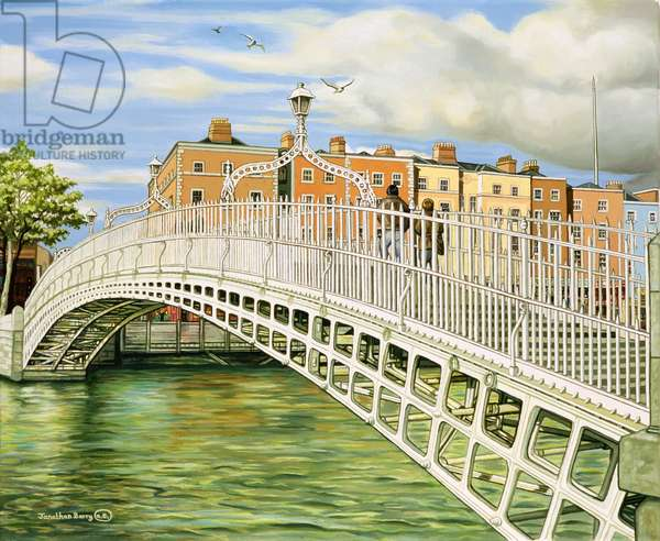 The Halfpenny Bridge, Dublin, 2006 (oil on canvas)