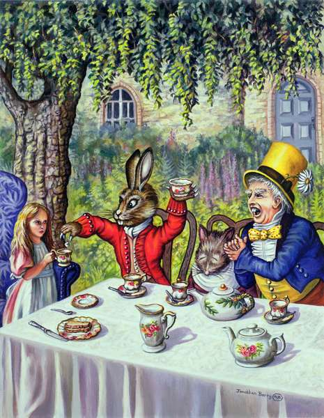 The Mad Hatter's Tea Party, 1999 (oil on canvas)