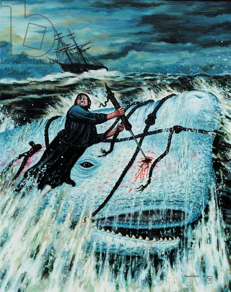 Moby Dick (oil on canvas)
