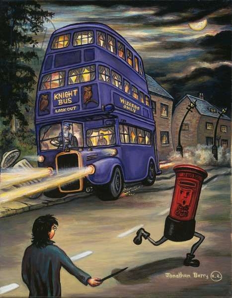 The Knight Bus, 2020 (oil on canvas)