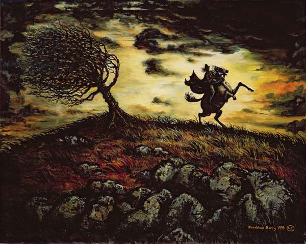 The Spectral Horseman, 1994 (oil on canvas)