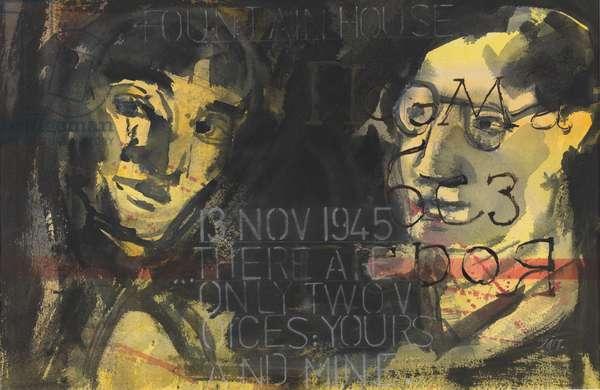 Anna Akhmatova and Isaiah Berlin (w/c on paper)