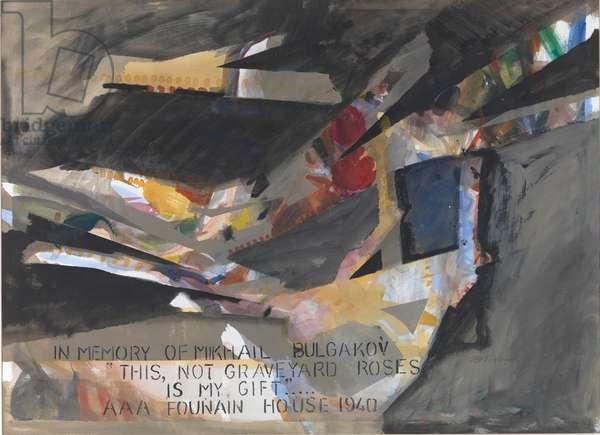 For Mikhail Bulgakov (w/c on paper)