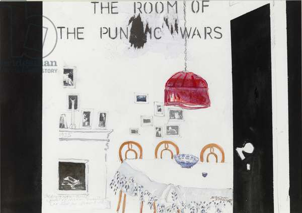 Dining Room 'Punic Wars' (w/c on paper)