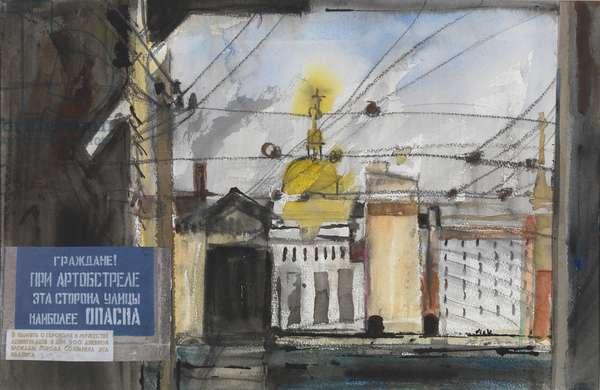Leningrad Tramlines (w/c on paper)