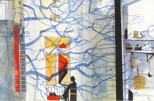 Anna Akhmatova, Tree Shadows (w/c on paper)