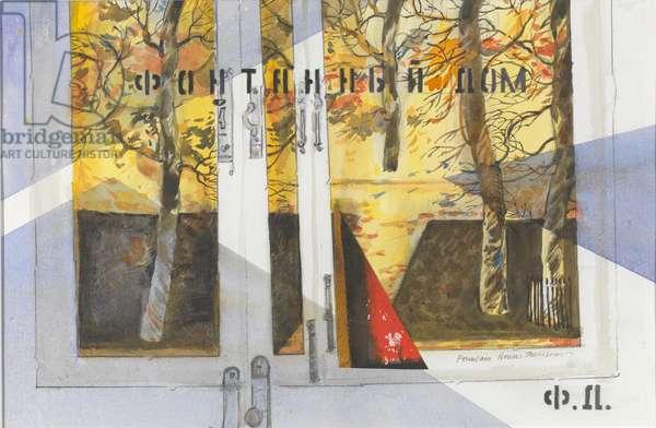 Maples through the Windows (w/c on paper)