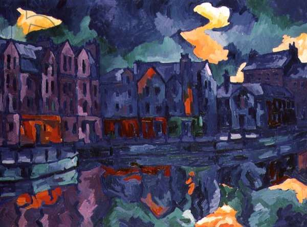 The Shore, Leith, 1996 (oil on canvas)