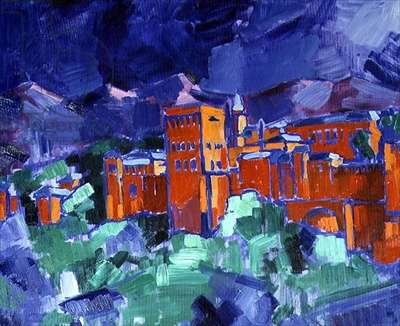 The Palace of the Alhambra, 1996 (oil on canvas)