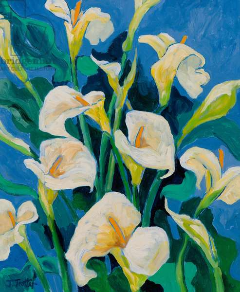 Madonna Lilies, (oil on canvas)