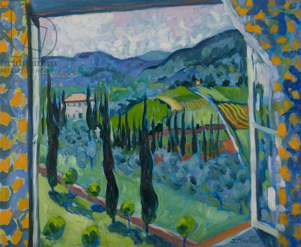 Cetinale from the Window, 2007 (oil on canvas)