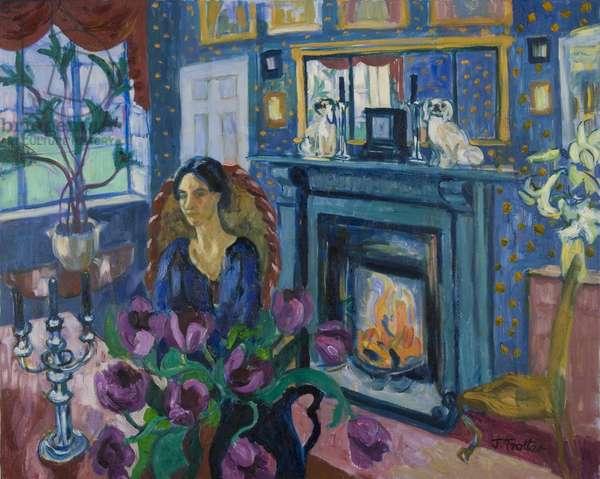 Blue Interior, 2007 (oil on canvas)
