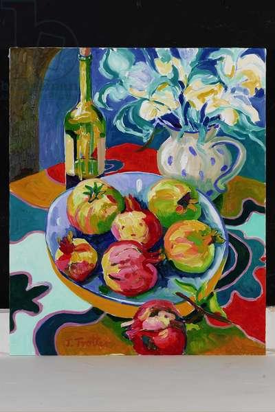 Still Life with Pomegranates, 2001 (oil on canvas)