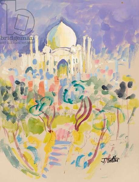 The Taj Mahal, Agra, 2017 (w/c on paper)