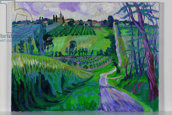 S. Meurice, Le Lot, 2006 (oil on canvas)