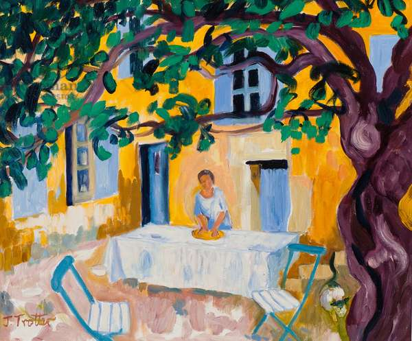 La Grange de Jusalem, Provence, 2008 (oil on canvas)