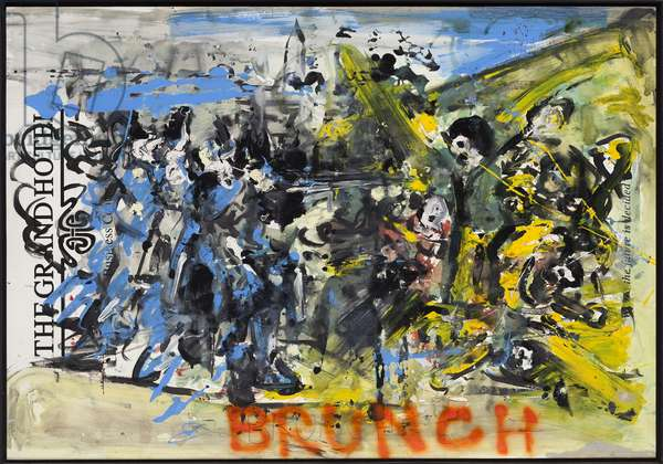 The Execution Of History, 2010 (mixed media on w/c paper mounted on panel with recipe on verso)