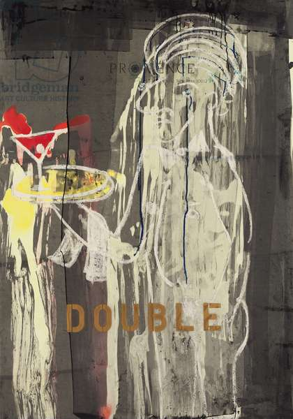 Double, 2010 (mixed media on w/c paper mounted on panel with recipe on verso)