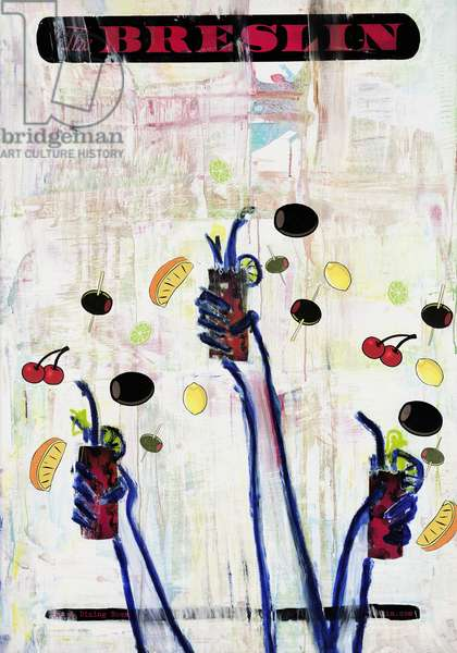 Goodbye To The Avant Garde, 2012 (mixed media on canvas mounted on panel with recipe on verso)
