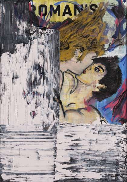 Roman Kiss, 2010 (mixed media on canvas on panel with recipe on verso)