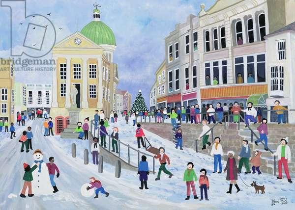 Market Jew Street, Penzance (w/c on paper)