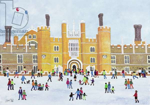 Hampton Court Front, 1991 (gouache on paper)