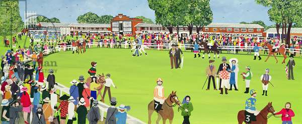 Ascot - the Paddock (w/c on paper)