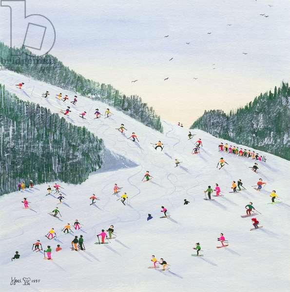 Ski-vening, 1995 (w/c)