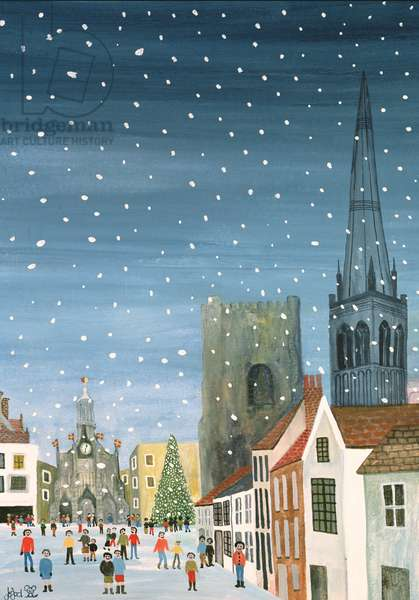 Chichester Cathedral, A Snow Scene (w/c on paper)