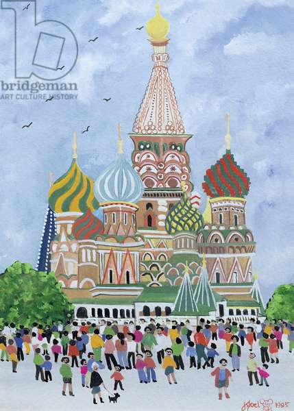 St. Basil's Cathedral, Red Square, 1995 (w/c)