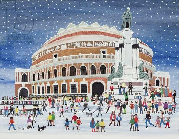 Royal Albert Hall, London (w/c on paper)