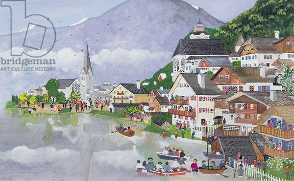 Hallstadt, Austria, 1995 (w/c)