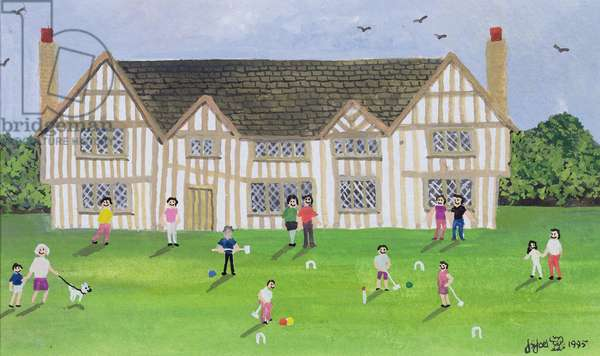 Tudor House, 1995 (w/c)