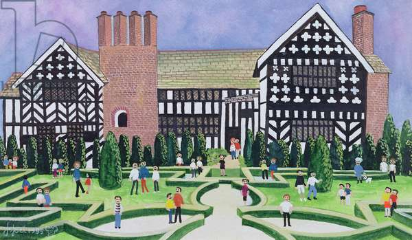 Little Moreton Hall, 1995 (w/c)