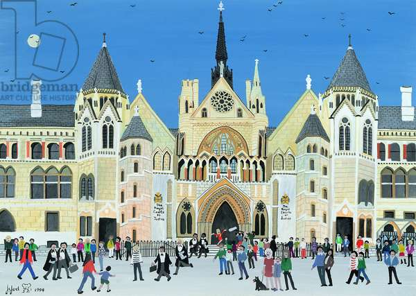 Royal Courts of Justice, London, 1994 (w/c on paper)