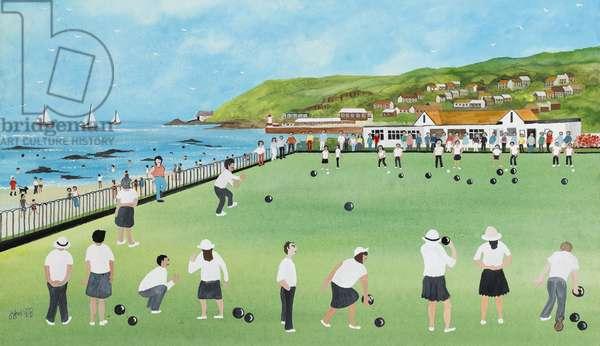 Bowling on Newlyn Green
