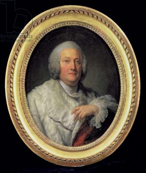 Portrait of Cardinal de Bernis (oil on canvas)