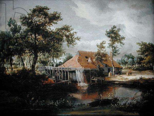 The Watermill (oil on canvas)