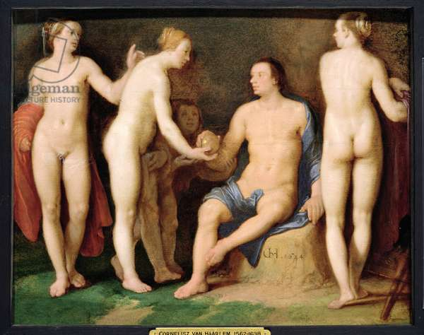 The Judgement of Paris, 1624 (panel)