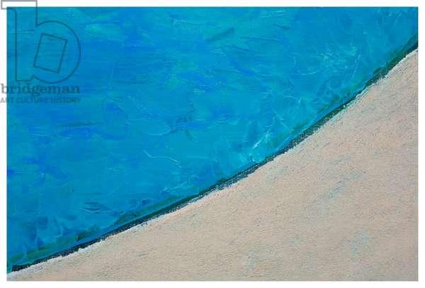 Night Swim, detail, 2019 (oil on linen)