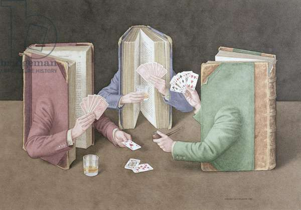 The Card Players, 2004 (w/c on paper)