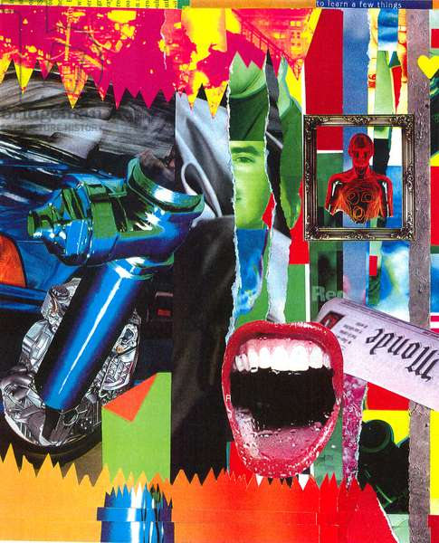 The Beauty and Validity of Graffiti (canvas with collage & acrylic paint)