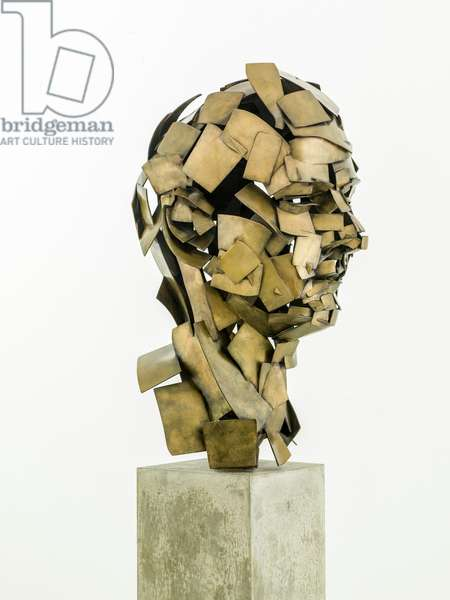 Homage to Paolozzi (Self Portrait), 2017 (bronze)