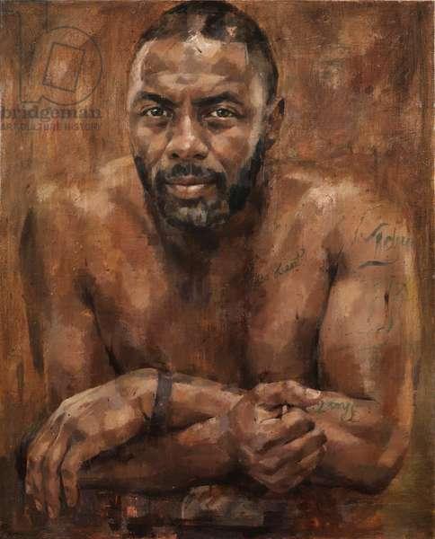Idris Elba, 2013 (oil on canvas)