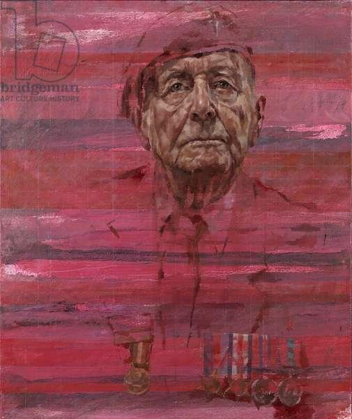 D-Day Veteran Geoffrey Pattinson, 2015 (oil on canvas)