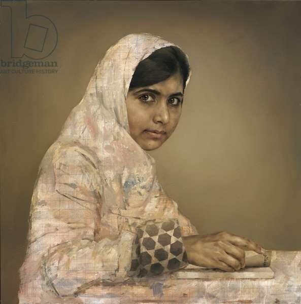 Girl Reading (Malala Yousafzai), 2013 (oil on canvas)