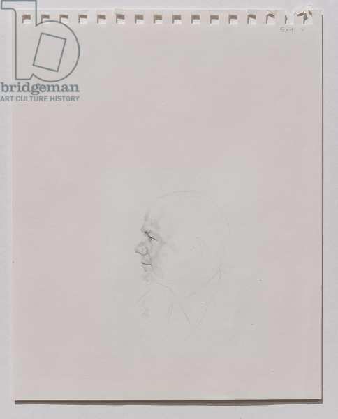 William Hague (Study), 2001 (pencil on paper)