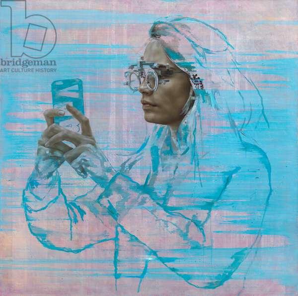 Cara IV (Selfie), 2015 (oil on canvas)