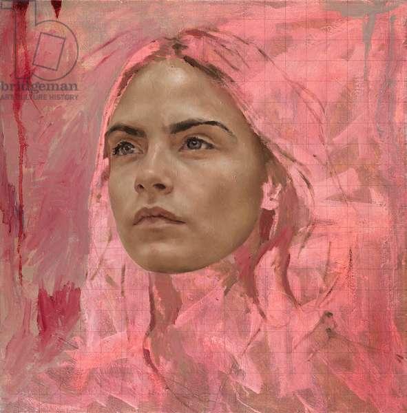 Cara Study I, 2015 (oil on canvas)