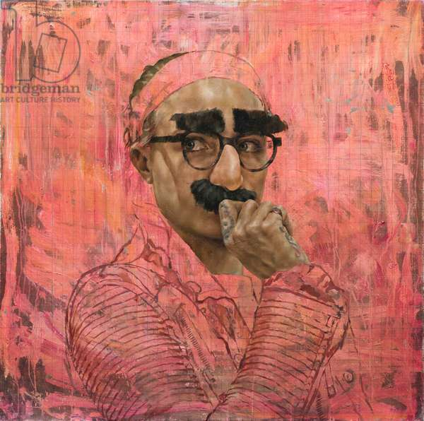 Cara Study XII (Groucho), 2016 (oil on canvas)